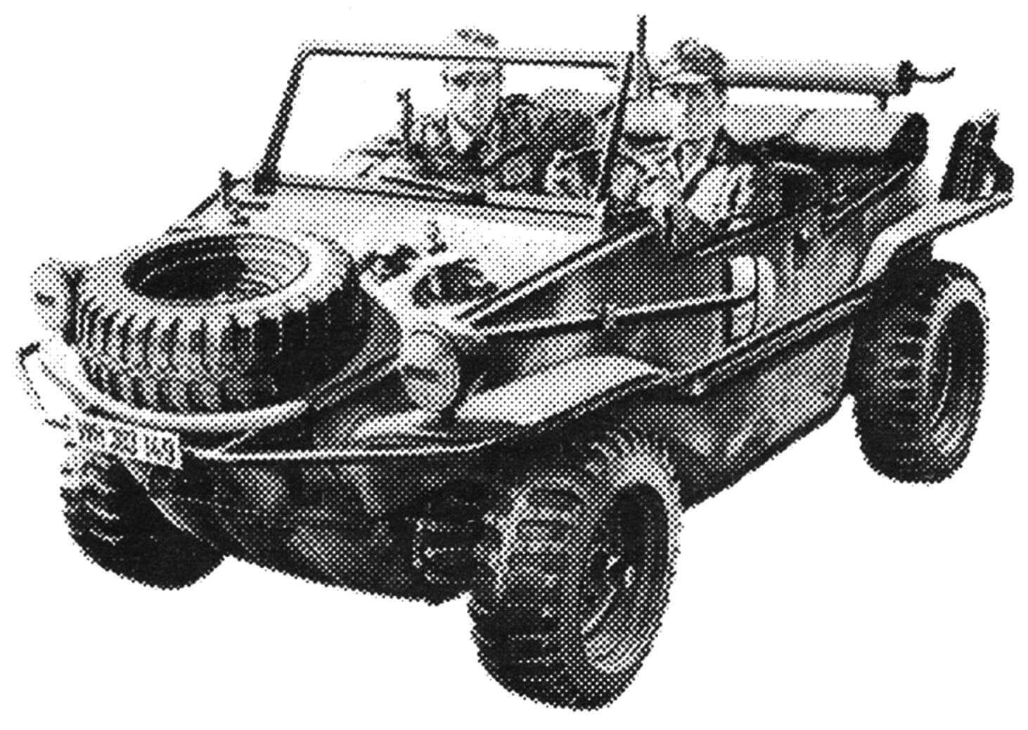 ПЛАВАЮЩАЯ МАЛЮТКА ФЕРДИНАНДА ПОРШЕ. Разведывательный автомобиль-амфибия вермахта VW-166 Schwimmwagen