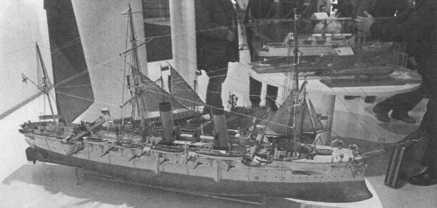 Броненосный крейсер «Рюрик-1» (класс С-2, масштаб 1:100), автор Иван Выгловский, Волгоградская обл.