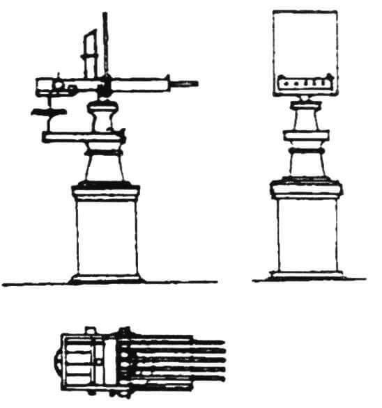 5-ствольная картечница Норденфельда ружейного калибра