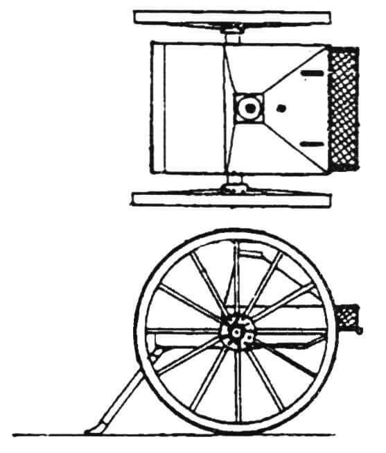 Десантный лафет 5-ствольной картечницы Норденфельда