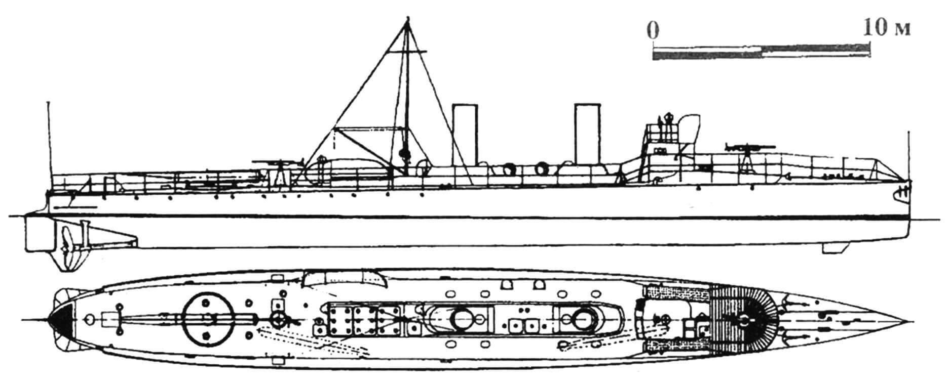 91. Миноносец «Персеус», Швеция, 1906 г. Строился на госверфи в Карлскроне. Водоизмещение нормальное 100 т, полное 120 т. Длина наибольшая 40,2 м, ширина 4,45 м, осадка 2,15 м. Мощность двухвальной паросиловой установки 2000 л.с., скорость на испытаниях 26 узлов. Вооружение: два торпедных аппарата, две 37-мм пушки. Всего построено 16 единиц: «Плейяд», «Кастор», «Поллукс», «Астрея», «Спика», «Ирис», «Тетис», «Вега», «Альтаир», «Арго», «Антарес», «Арктурус», «Персеус», «Поларис», «Регулус» и «Ригель», вошедшие в строй в 1906 — 1910 гг. С 1928 г. — патрульные суда. Исключены из списков вскоре после окончания Второй мировой войны.