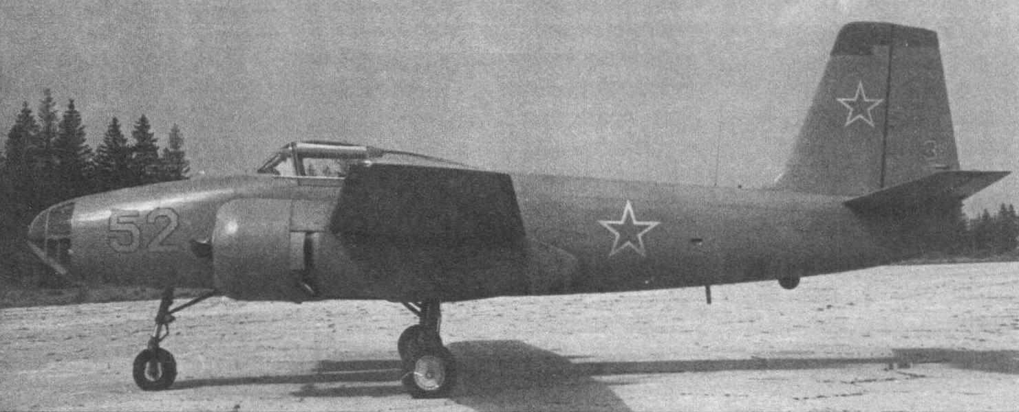 Первый вариант Як-200 на аэродроме НИИ ВВС