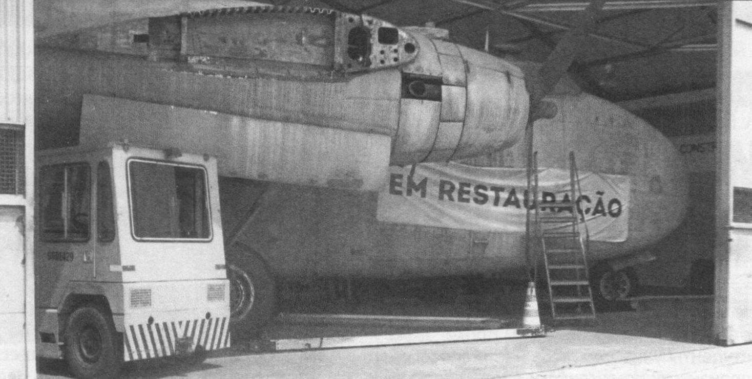 Транспортный самолет С-119 «Фэйрчайлд», находится на реставрации