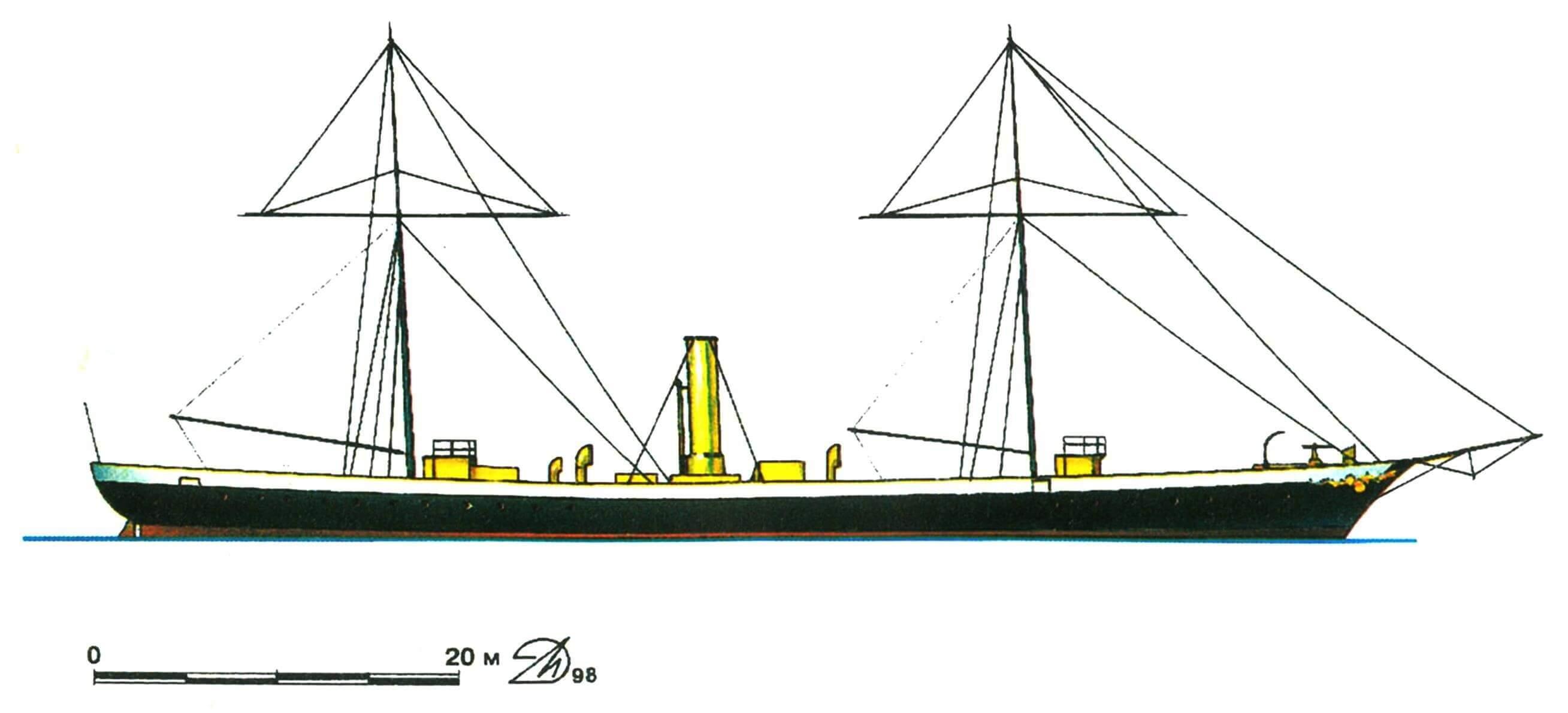 23. Миноносное судно «Цитен», Германия, 1876 г.