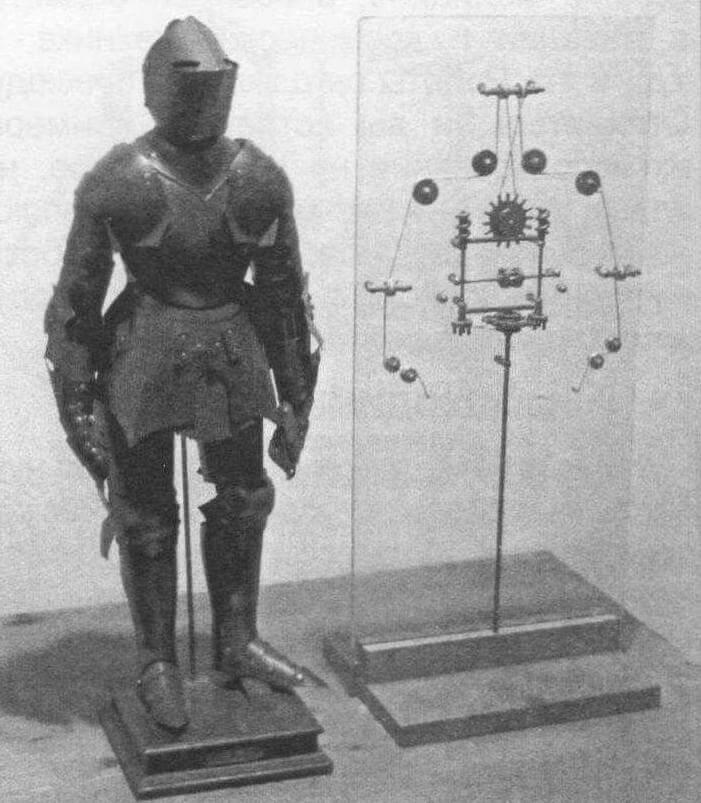 Рыцарь Леонардо да Винчи, созданный мастером в 1495 году