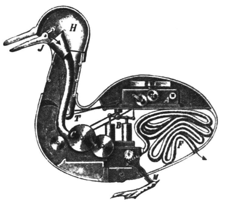 Механическая утка Жака де Вокансона была наделена многими функциями живого организма. Сегодня тоже есть куклы, которых надо кормить и даже менять грязные подгузники