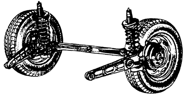Подвеска задних колес.