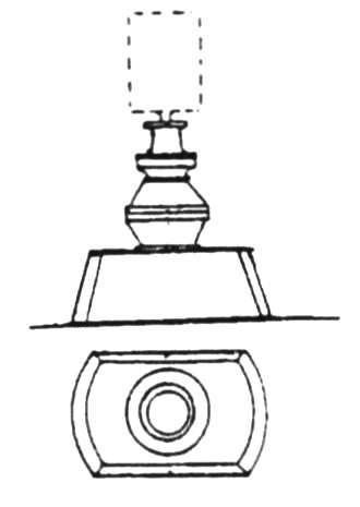 Станок 5-ствольных картечниц Норденфельда на баке