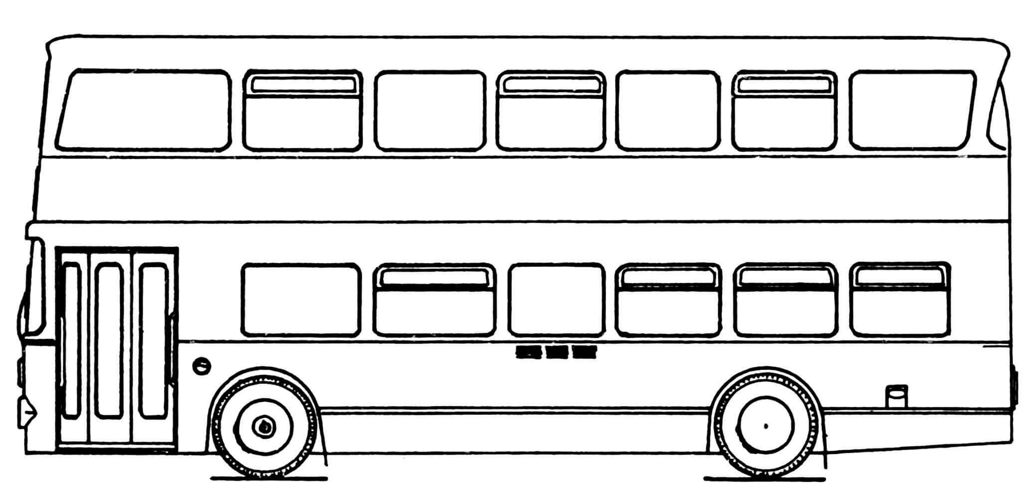 Вариант автобуса с одной дверью.