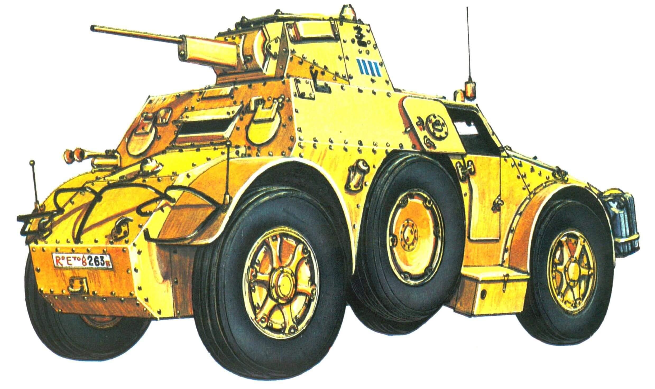 Бронеавтомобиль АВ 41. Северная Африка, ноябрь 1941 г.