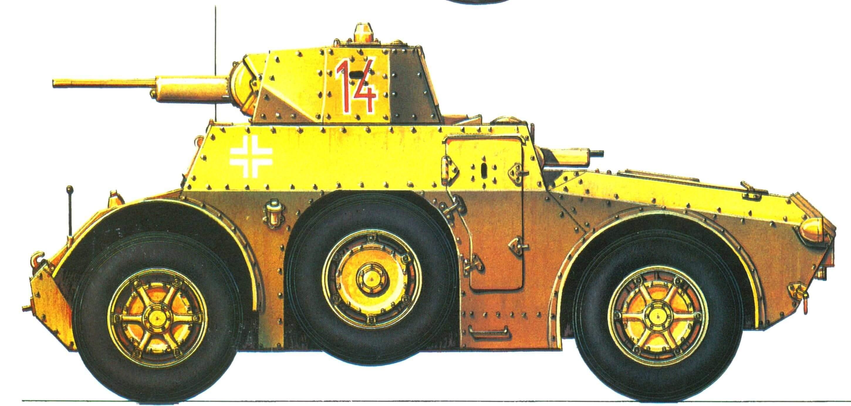 Бронеавтомобиль АВ 41. 7-я добровольческая горно-пехотная дивизия СС «Принц Евгений», Югославия, 1944 г.