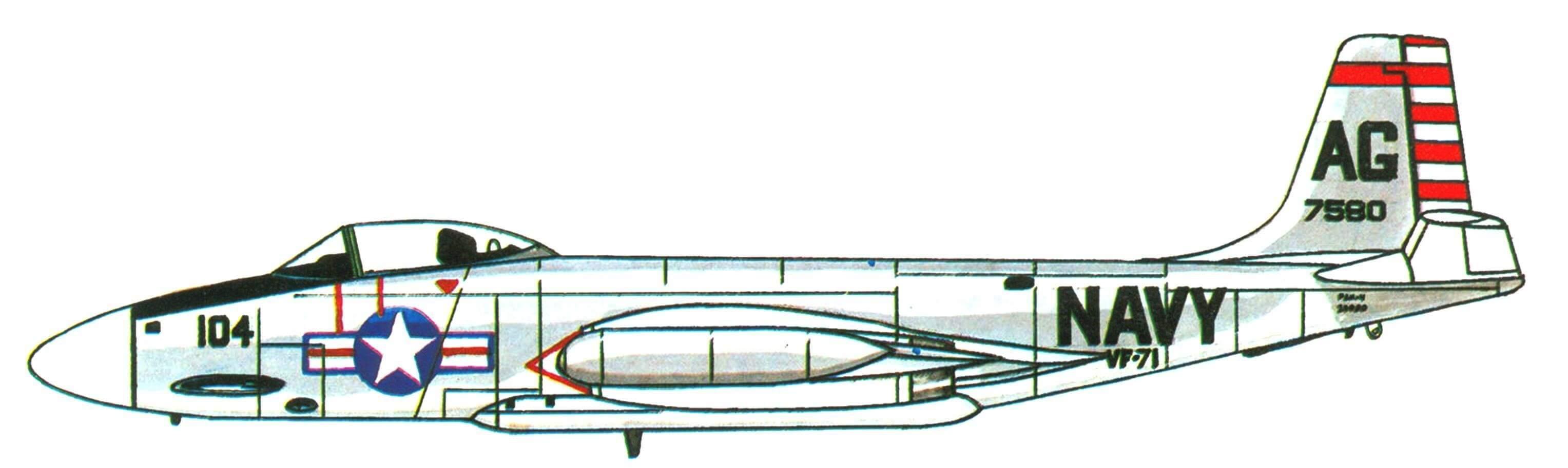 F2H-4 «Бенши» эскадрильи VF-71, авианосец «Рэндолф», 1957 год.