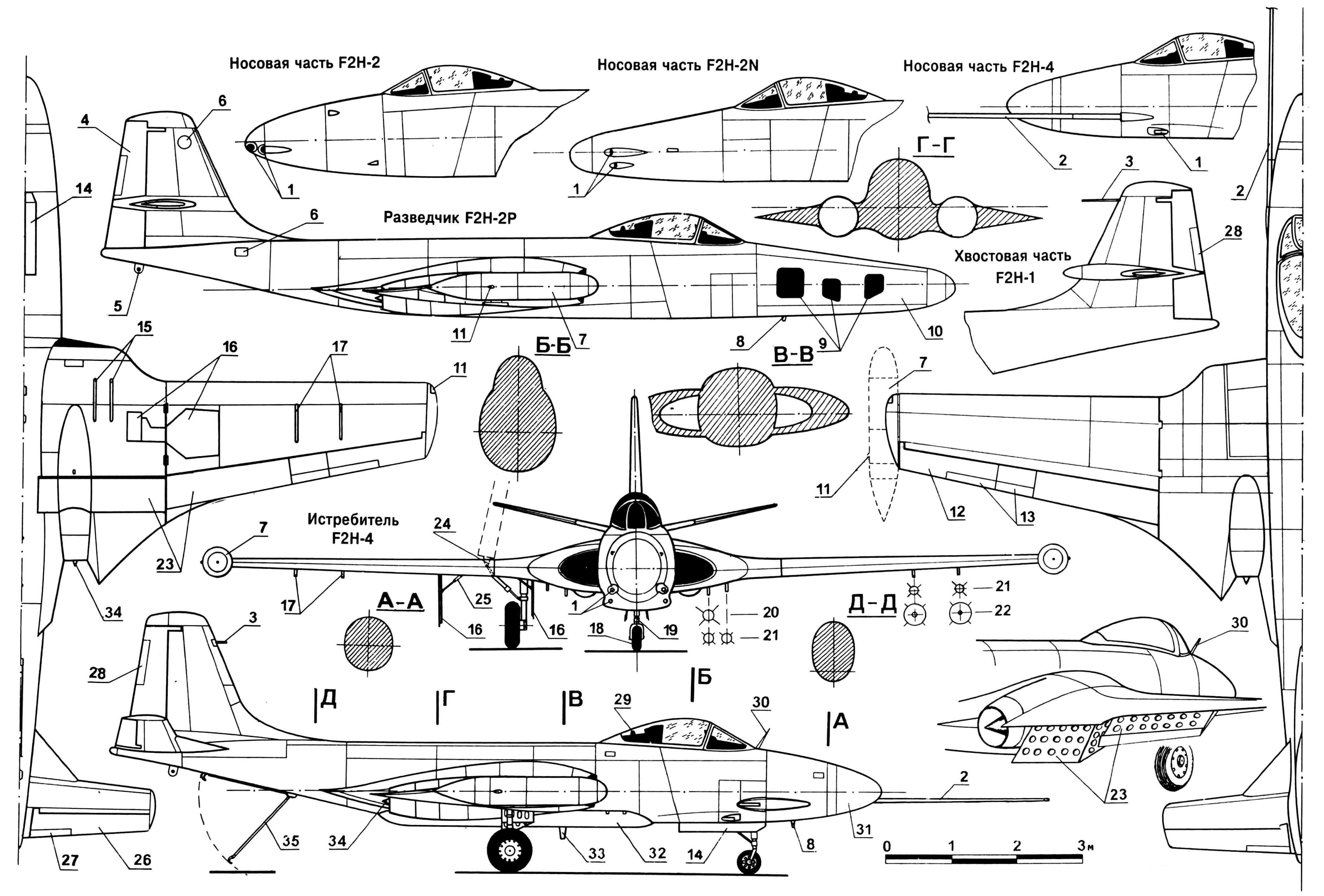 Модификации самолета F2H «БЕНШИ»