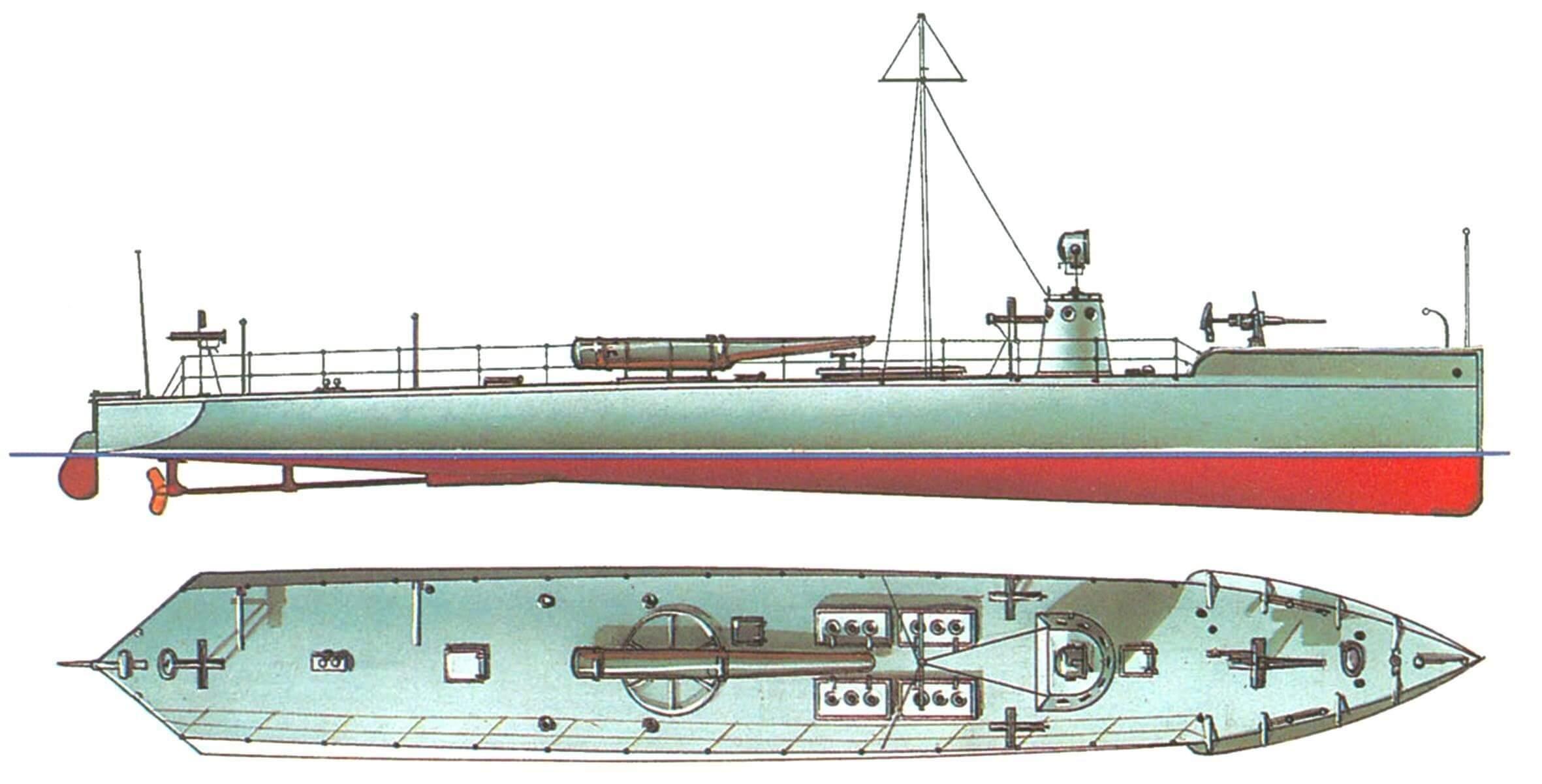 110. Миноноска № 1 («газолинка» Никсона), Россия, 1905 г.