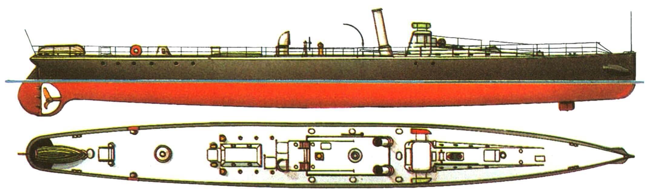 34. Миноносец «Мунин», Швеция, 1888 г.