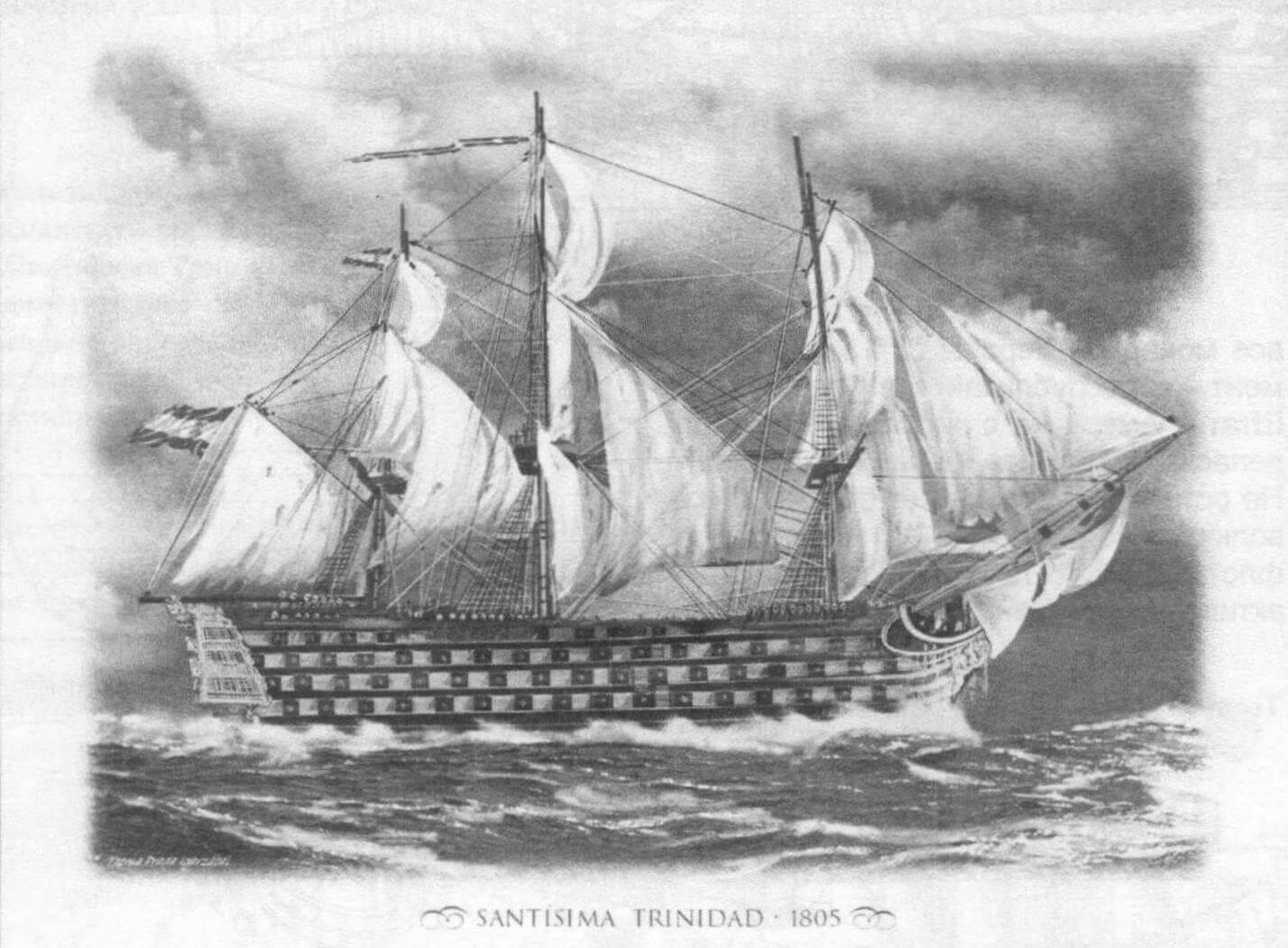 Еще один вариант реконструкции внешнего вида линейного корабля «Сантисима Тринидад» по состоянию на 1805 год