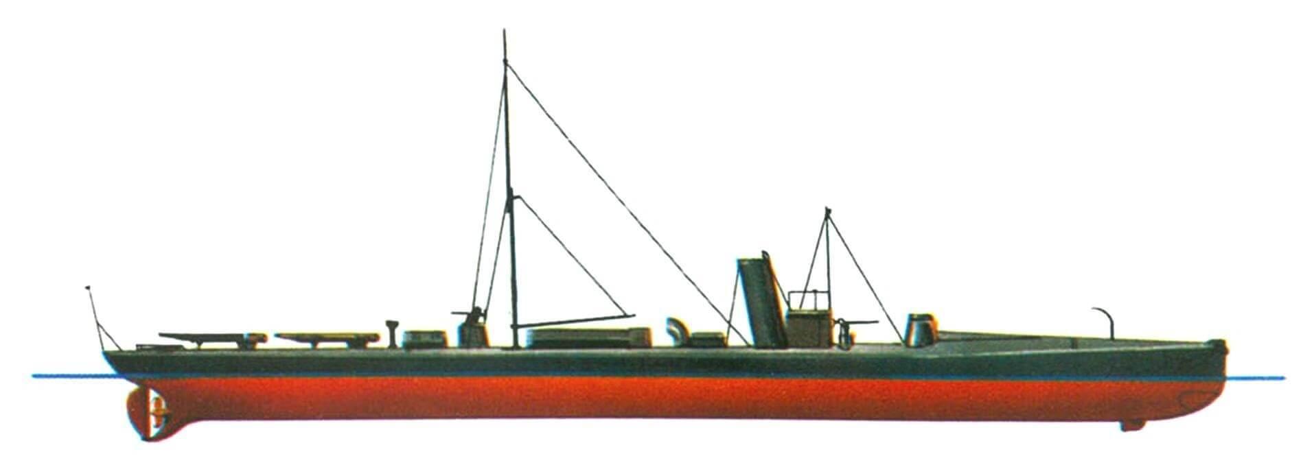 124.«Дивизионный» миноносец D-1, Германия, 1887 г.