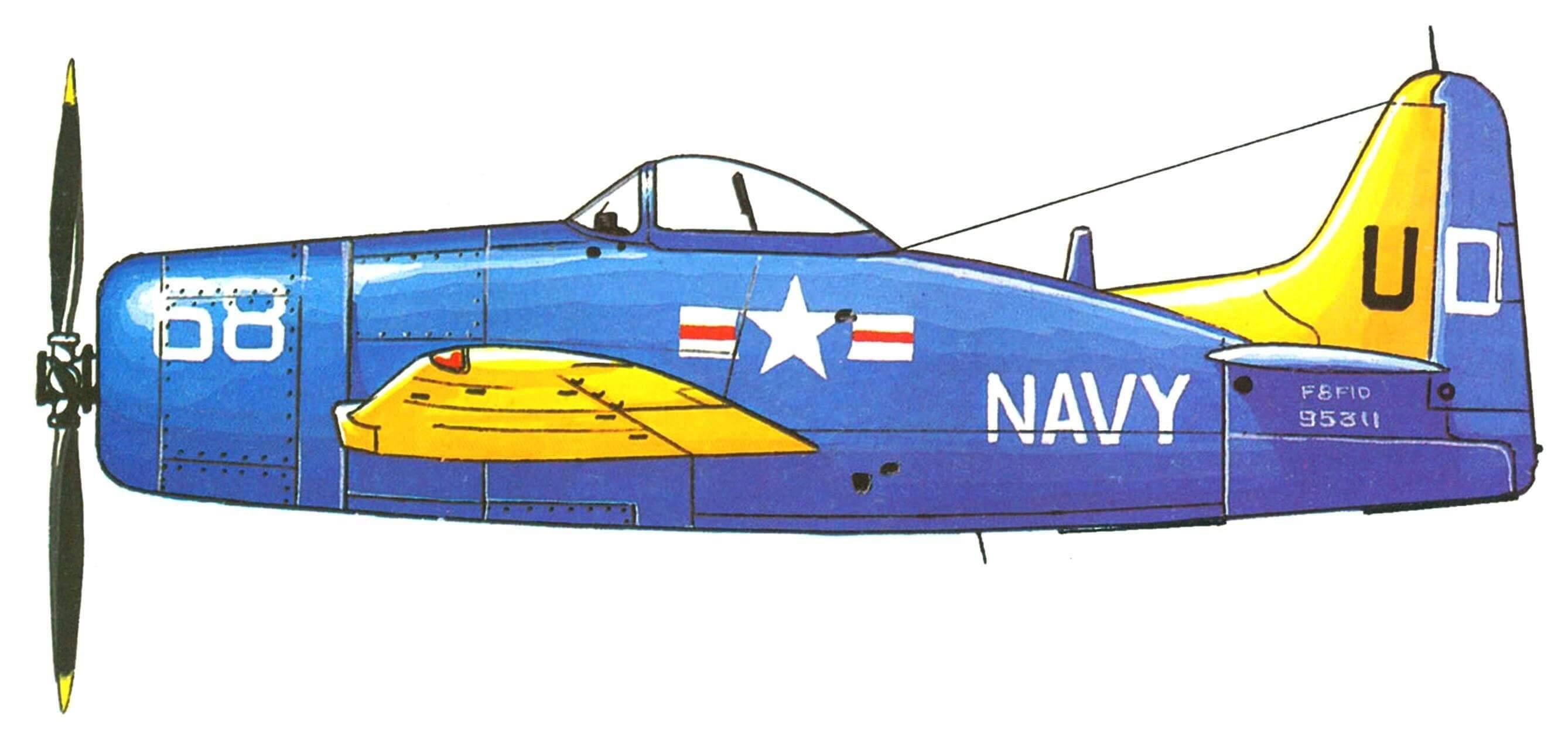 F8F-1 авиационной группы авианосца TARAWA, 1945 год