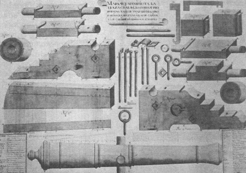 Лафет тяжелого орудия испанской морской артиллерии