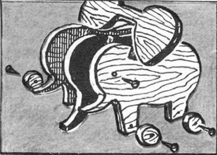 Заготовки фигурки слоненка.