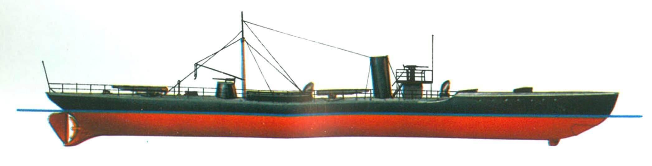 125. «Дивизионный» миноносец D-9 Германия, 1894 г.