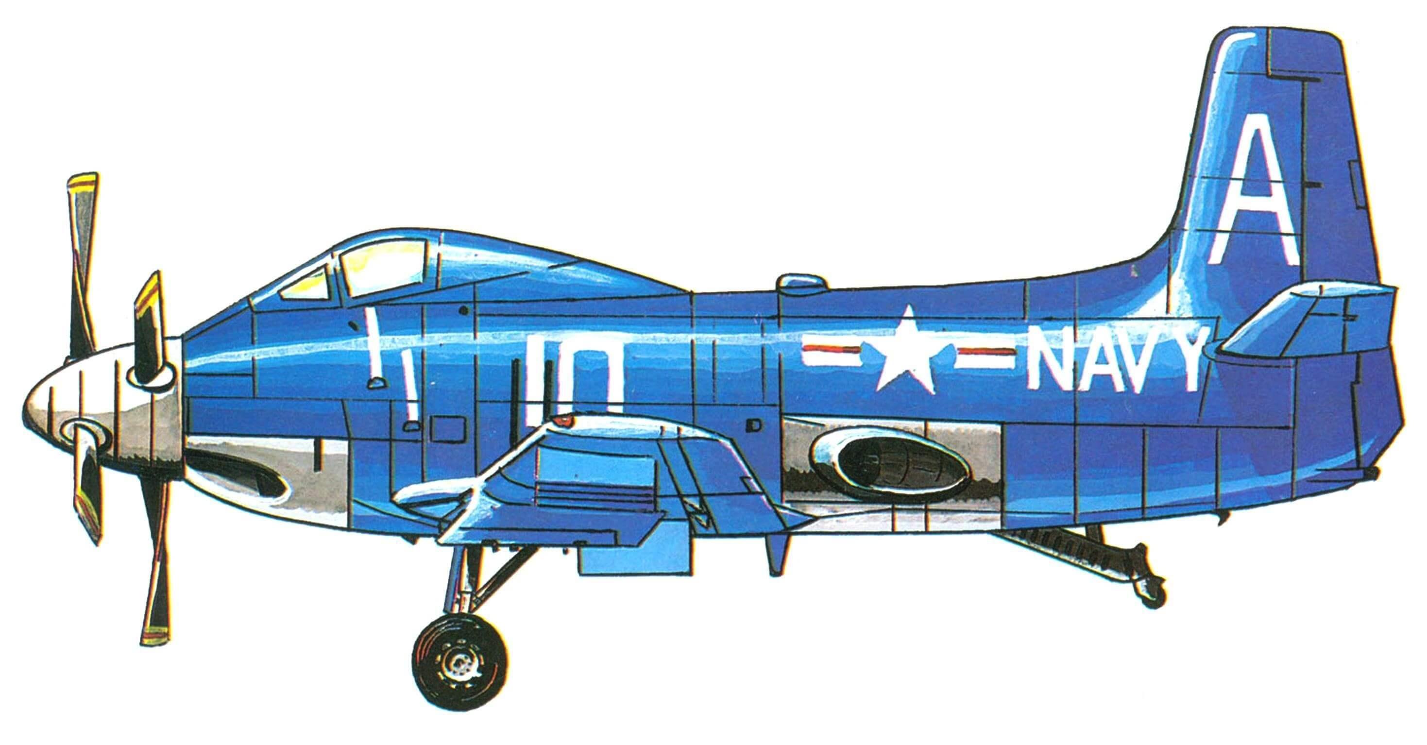 Один из серийных самолетов A2D-1 «Скайшарк»