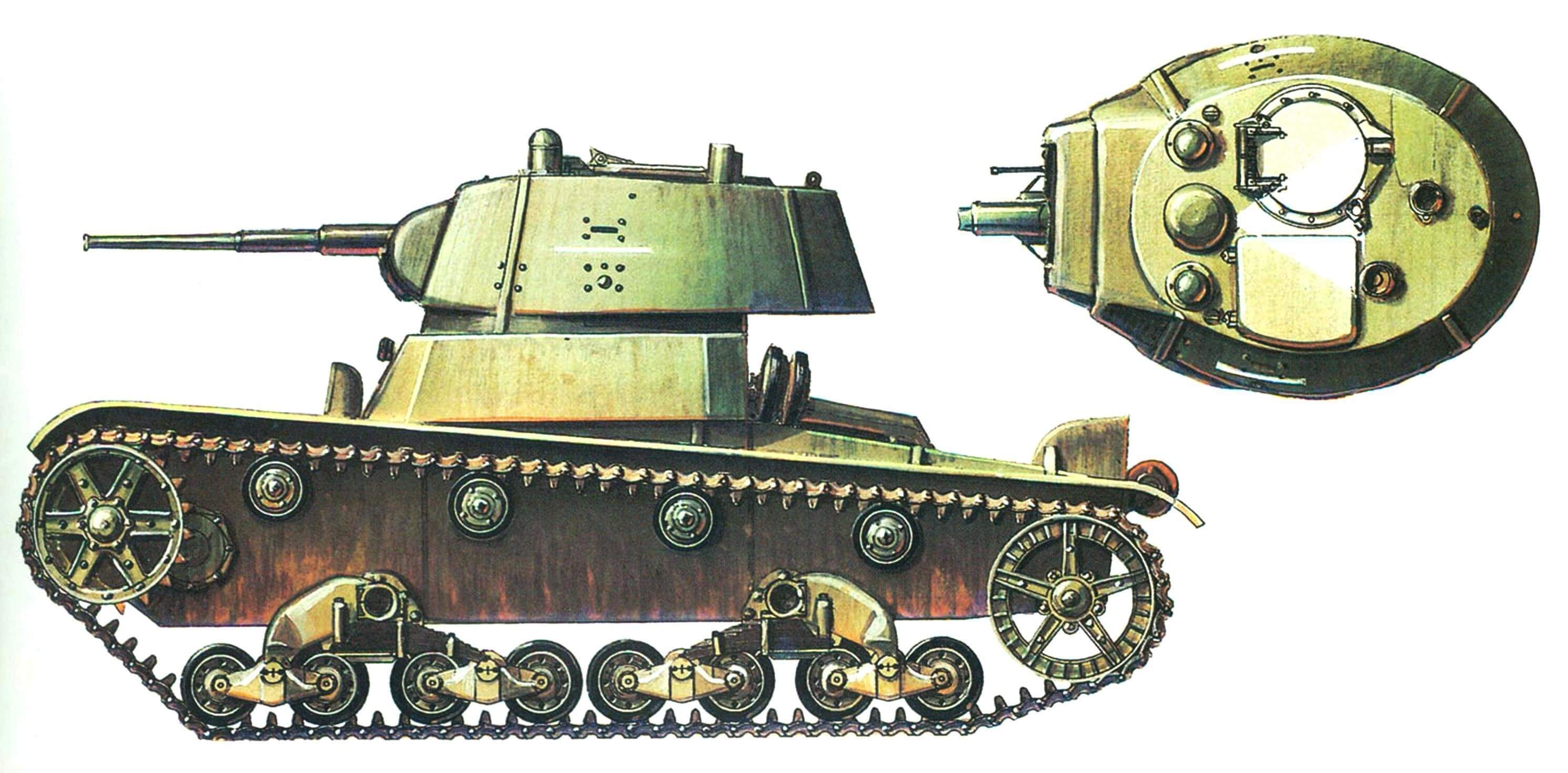 Легкий танк Т-26. 34-я танковая дивизия, 8-й механизированный корпус, Юго-Западный фронт, лето 1941 года.