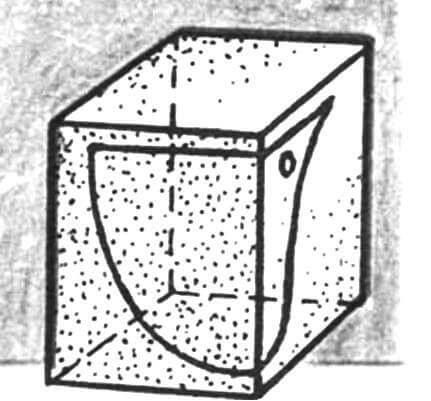 Пенопластовый блок для носовой части.