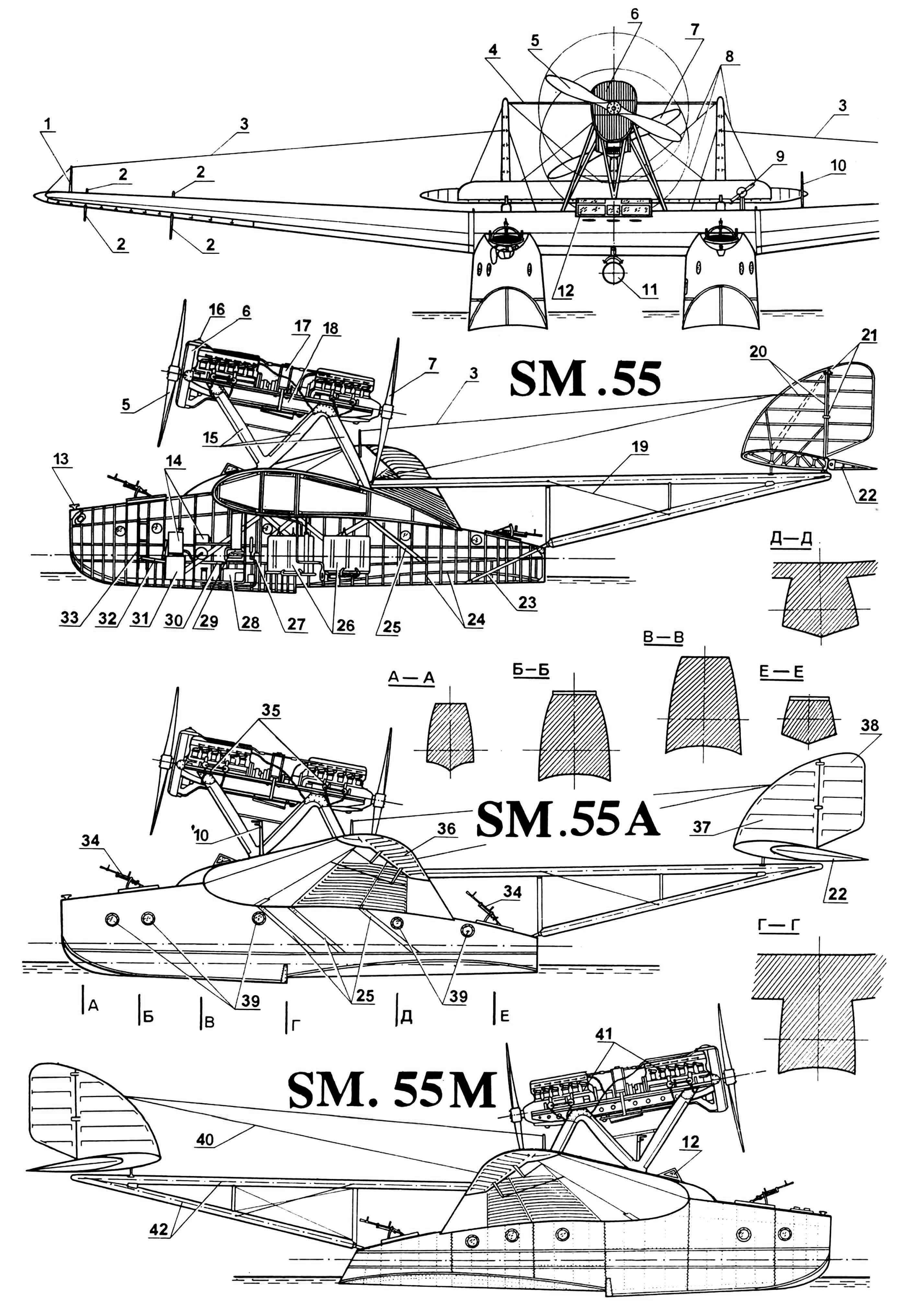 РЕКОРДСМЕН ДАЛЬНИХ ПЕРЕЛЕТОВ (Летающая лодка SM.55)