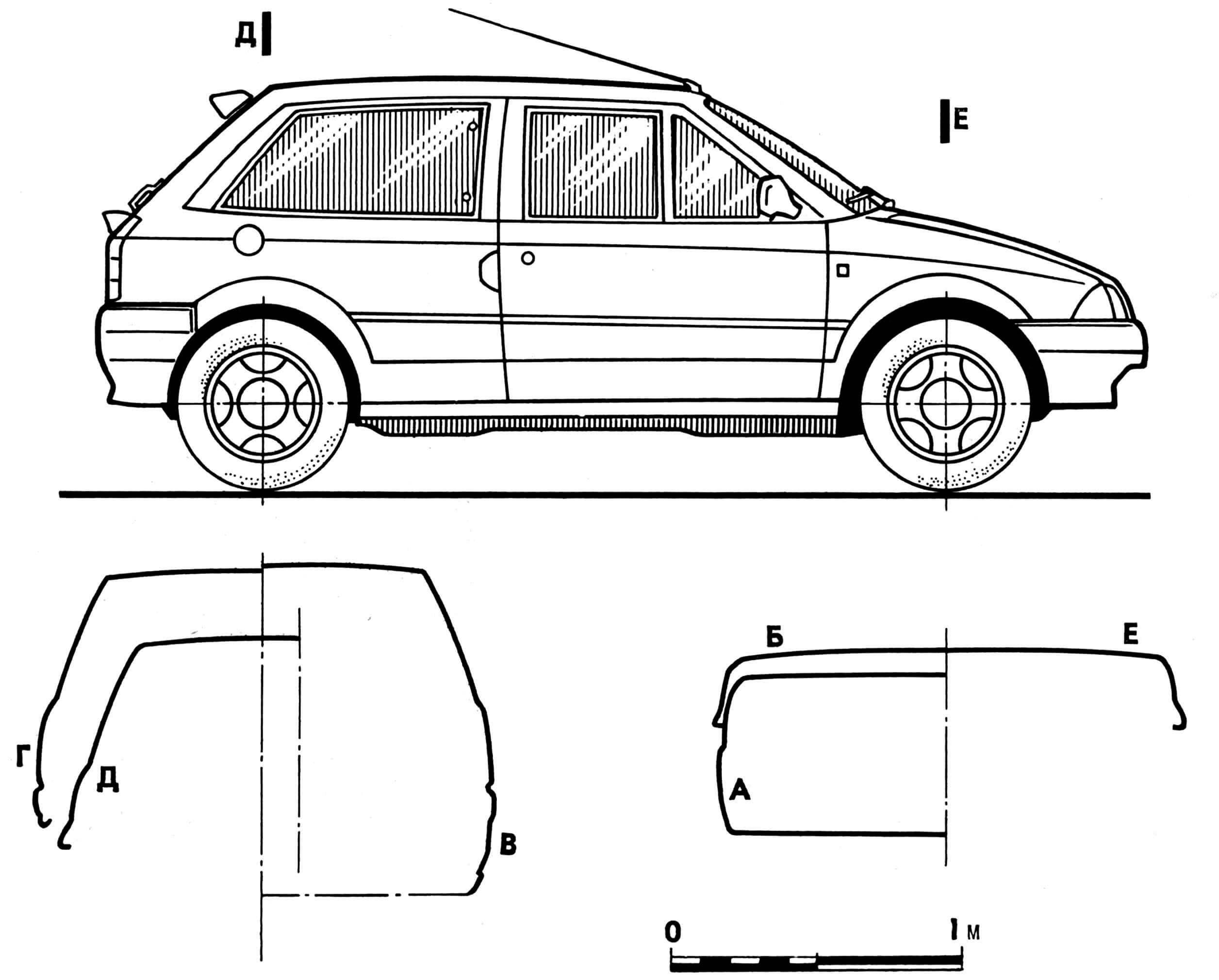 Автомобиль «CITROEN АХ» GTi с трехдверным кузовом.