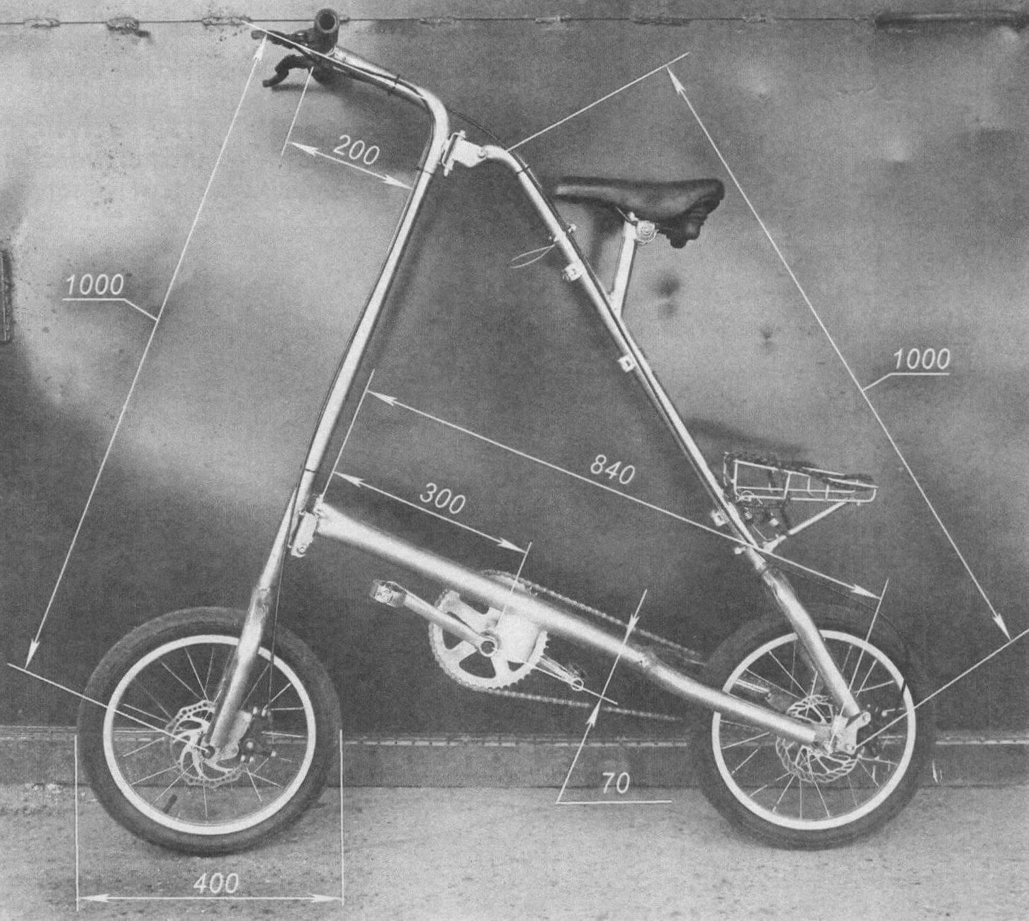 Размеры своего велосипеда я подбирал индивидуально