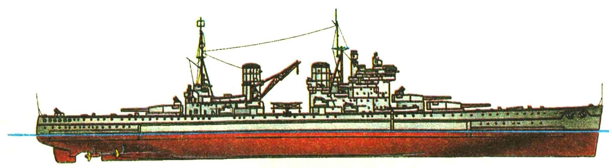 221. Линейный корабль «КИНГ ДЖОРДЖ V», Англия, 1941 г.