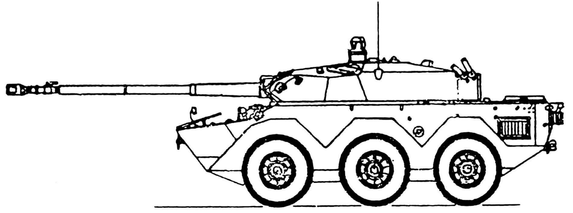 БРМ AMX-10RC со 105-мм пушкой F-2