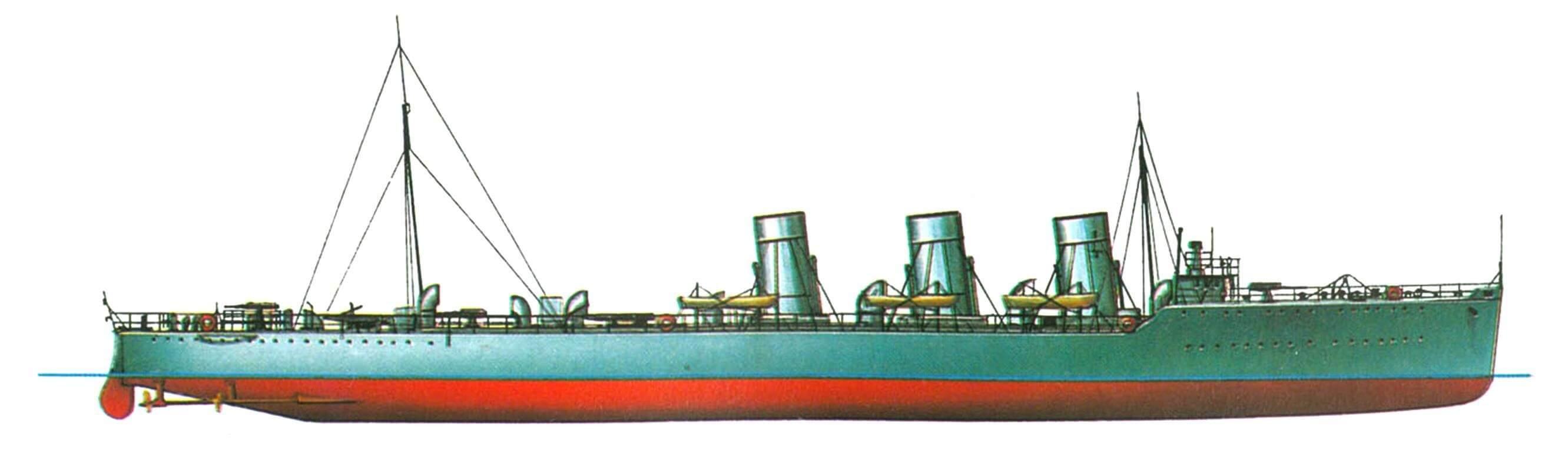 152. Лидер эскадренных миноносцев «Свифт», Англия, 1909 г.