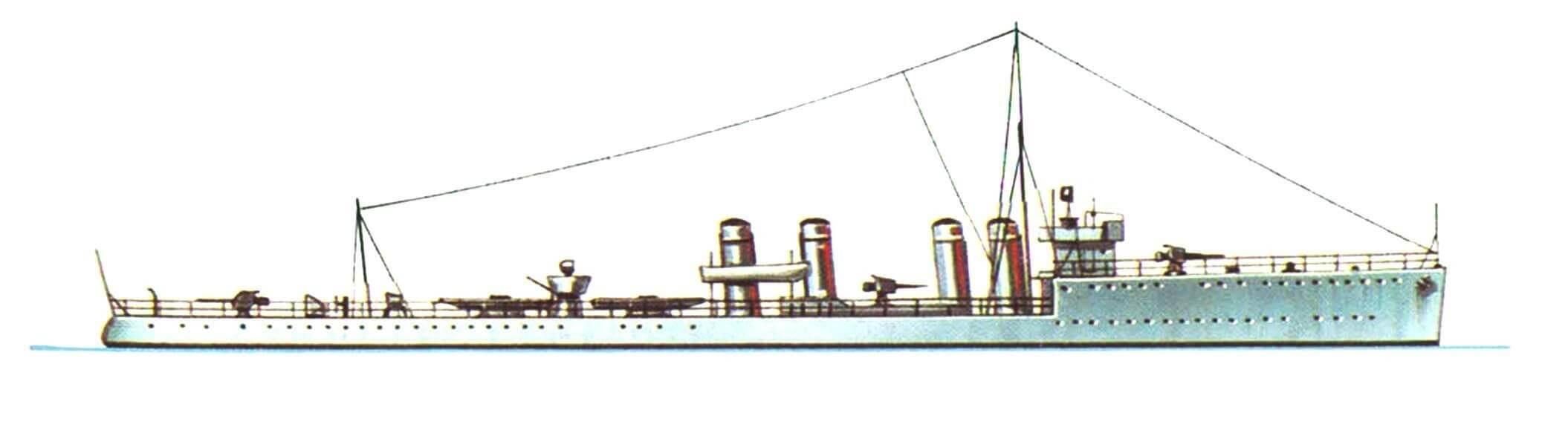 173. Эскадренный миноносец «Мэнсфилд», Англия, 1915 г.
