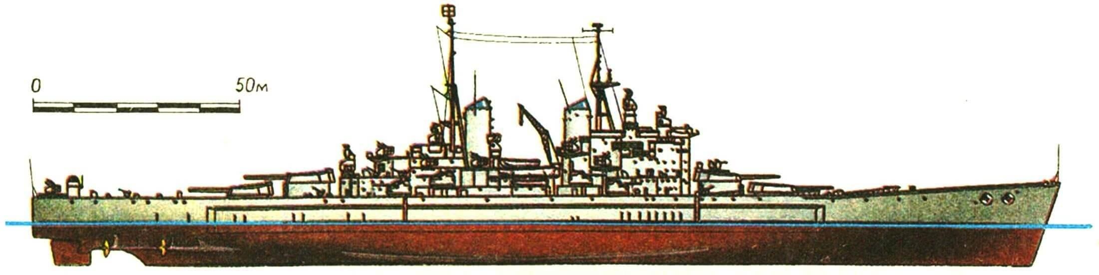 222. Линейный корабль «ВЭНГАРД», Англия, 1945 г.