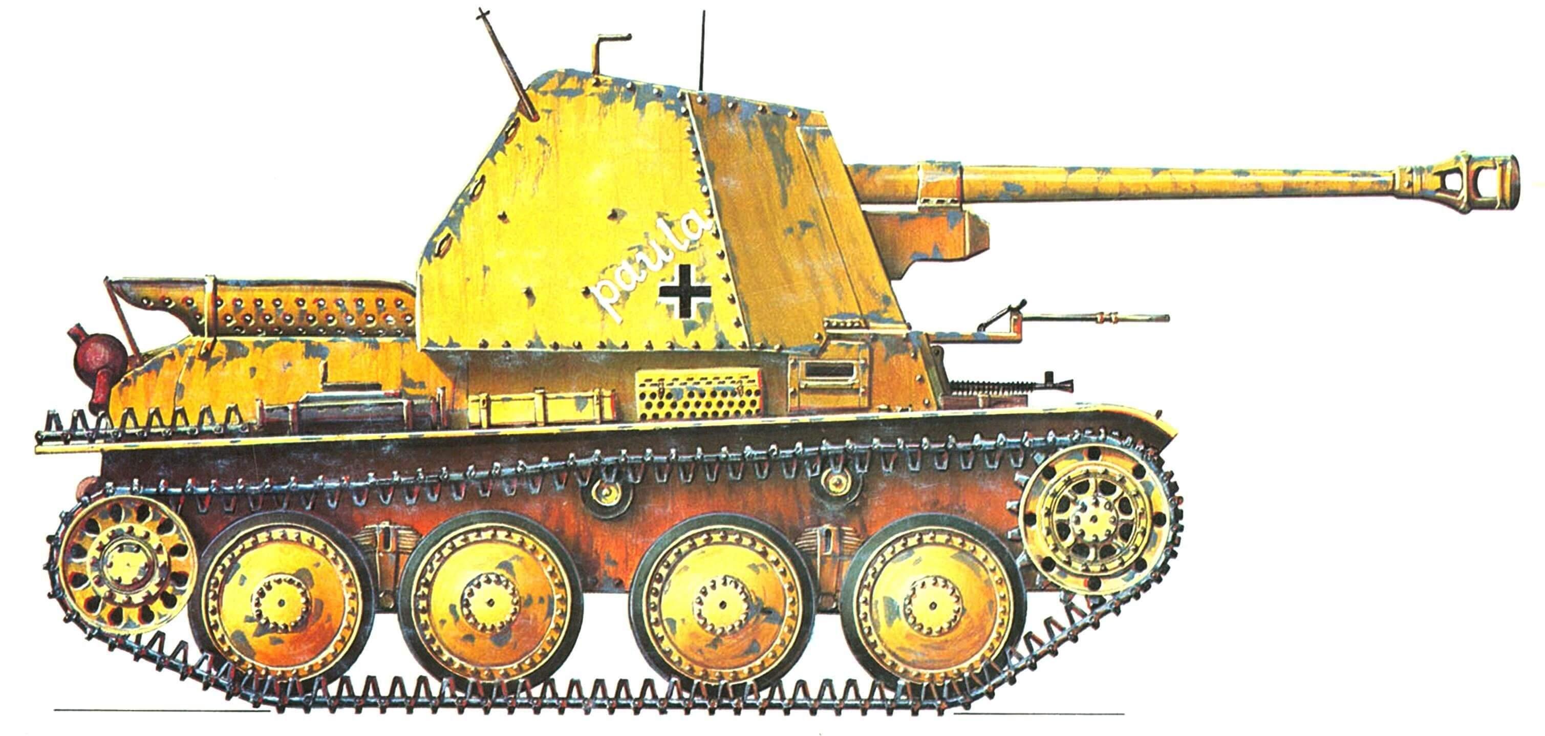 7,5 cm Рак 40 auf Pz.38(t) Marder III Ausf.H (Sd.Kfz.138). 23-я танковая дивизия германского Африканского корпуса (23. Panzer Division Deutsche Afrika Korps), 1943 r.