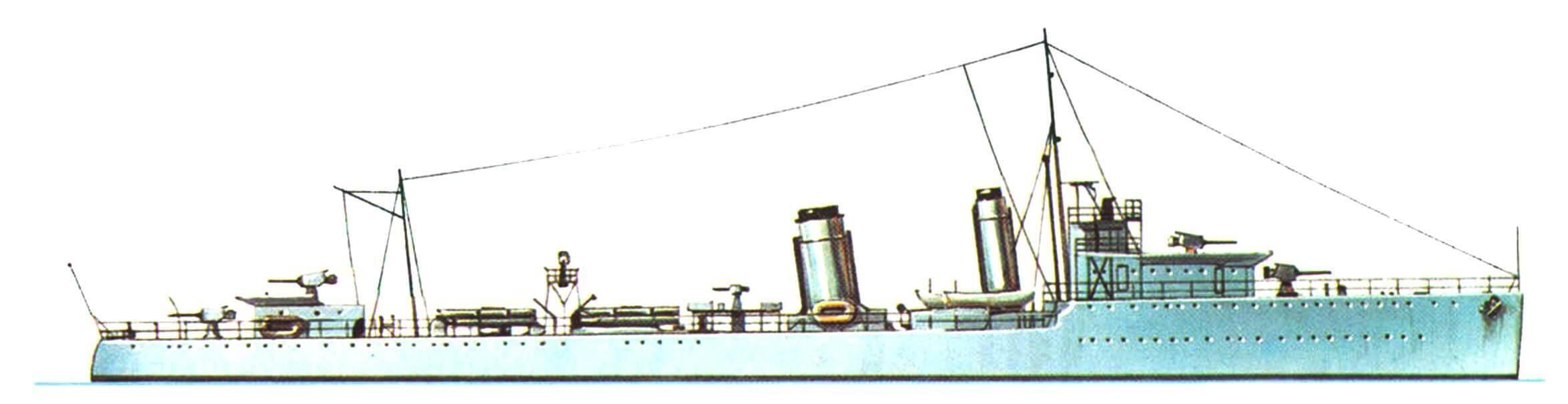 174. Эскадренный миноносец «Вэндерер», Англия, 1919 г.