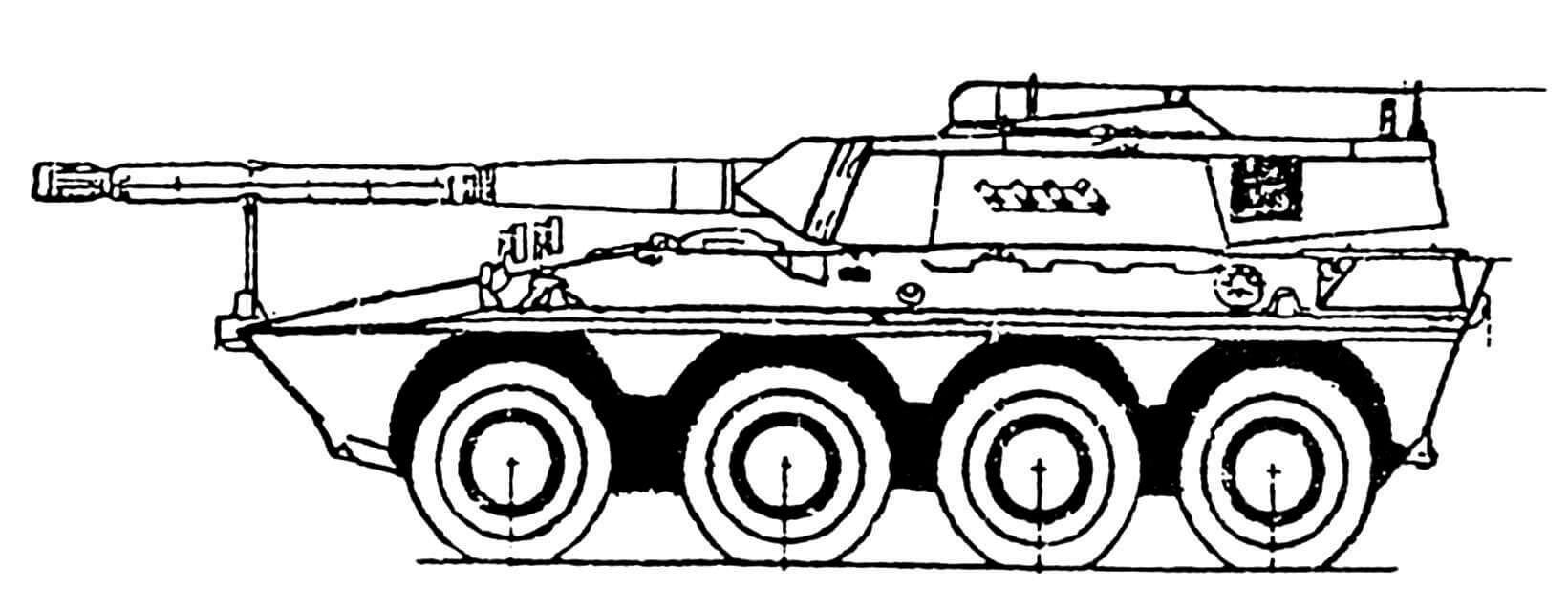 ИТ 6638 GB-1 «Центауро» со 105-мм пушкой «ОТО Мелара»