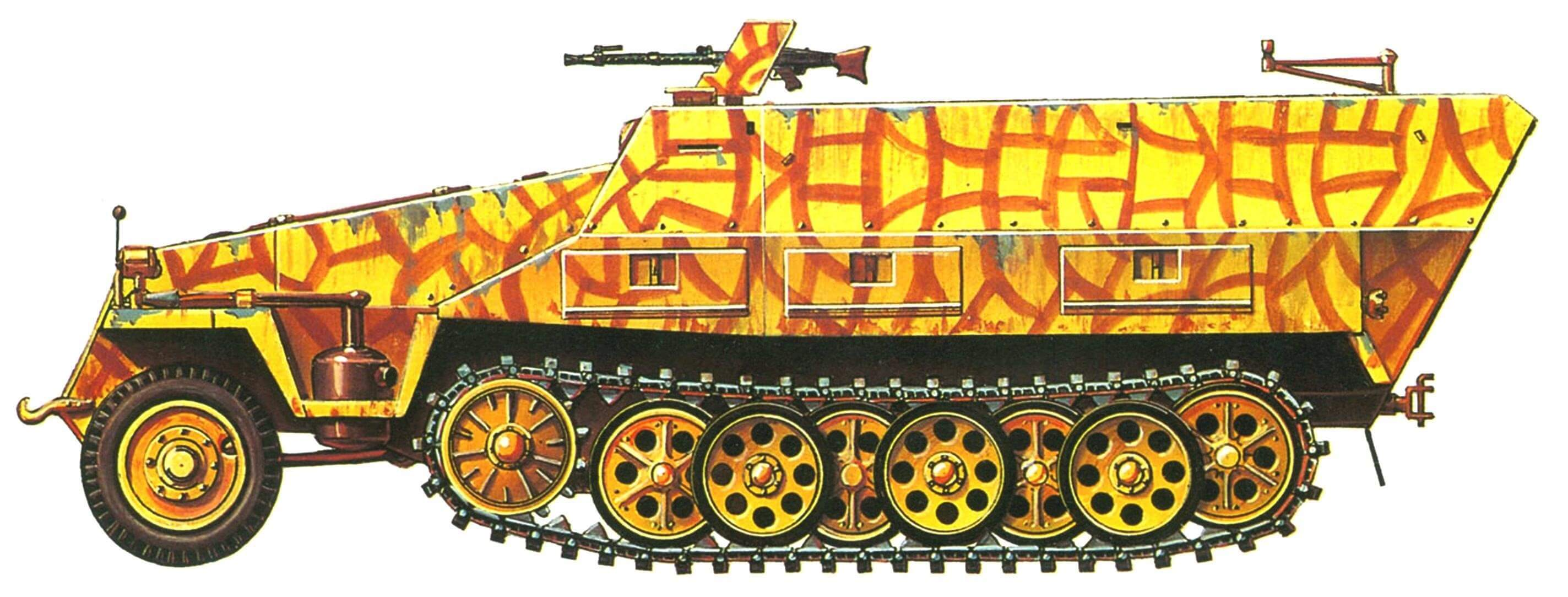 "Sd.Kfz.251/1 Ausf.D. Воздушно-десантная танковая дивизия ''Герман Геринг"" (Fallschirm Panzer Division ''Herman Goering""), Италия, Монте-Кассино, 1943 - 44 г.г."