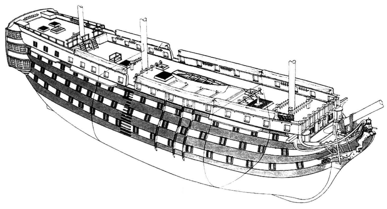 «Сантисима Тринидад» - один из крупнейших и хорошо вооруженных линейных кораблей своего времени