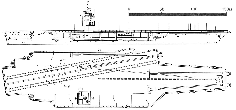 Первый атомный ударный авианосец «Энтерпрайз».