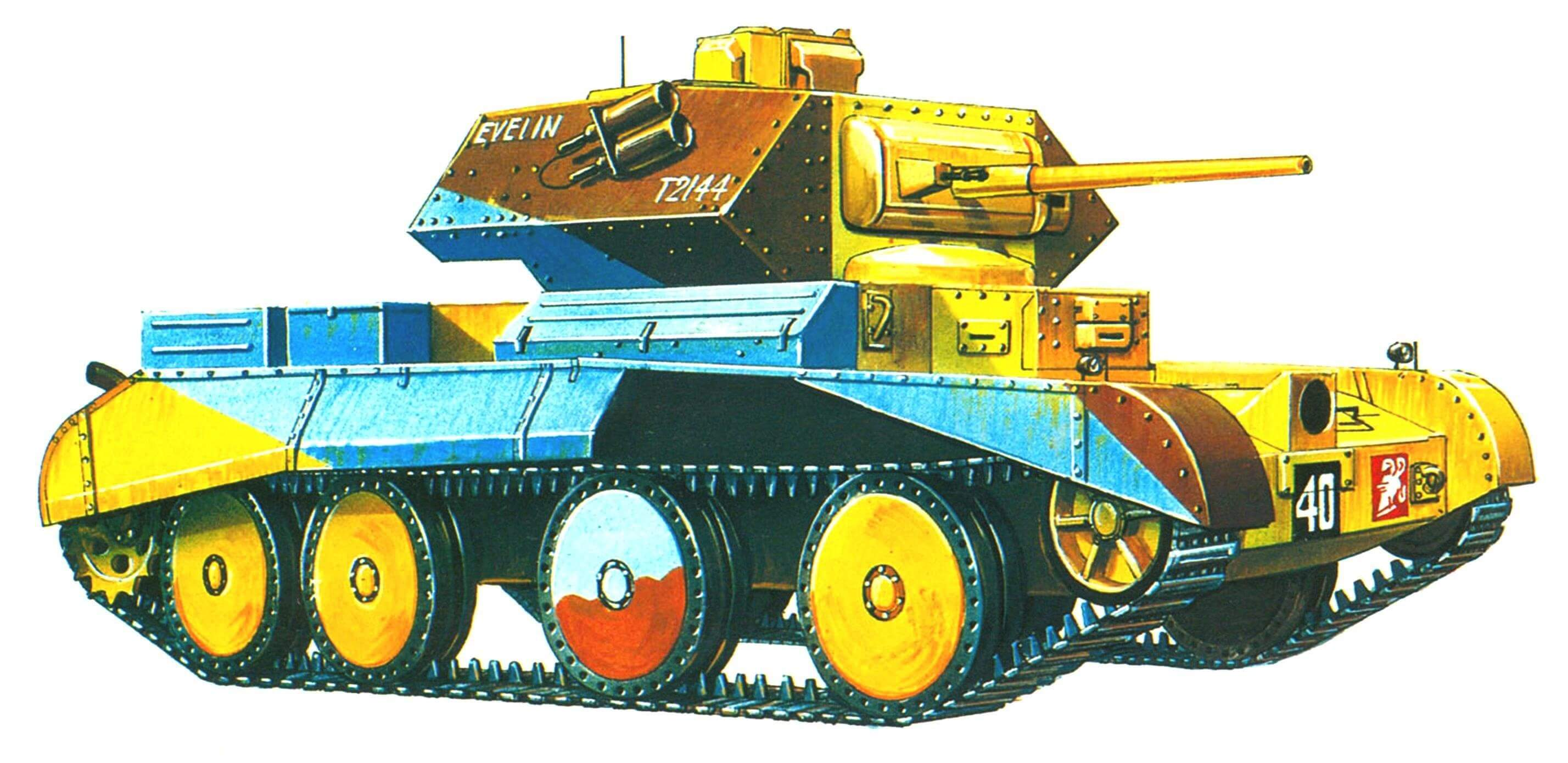 Cruiser Mk IV. 2-я танковая дивизия, Северная Африка, февраль 1941 года.