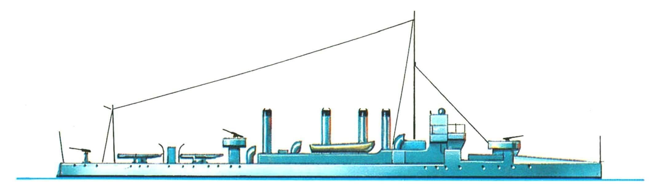 156. Эскадренный миноносец «Тьелла», Греция, 1906 г.