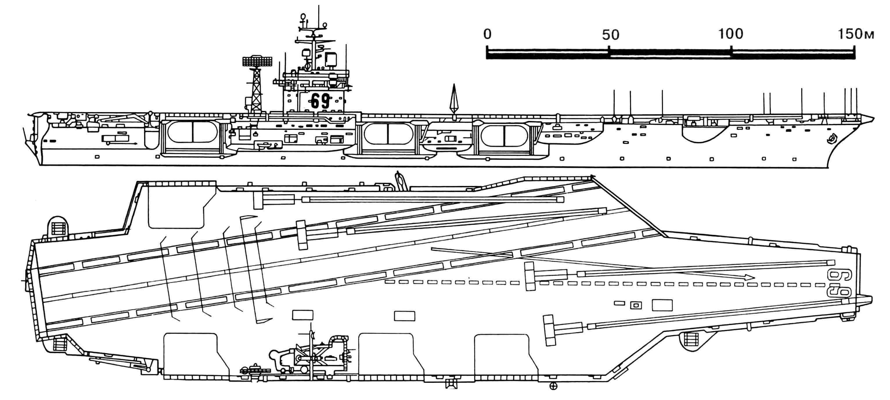 Атомный ударный авианосец «Дуайт Эйзенхауэр» типа «Честер У. Нимиц».