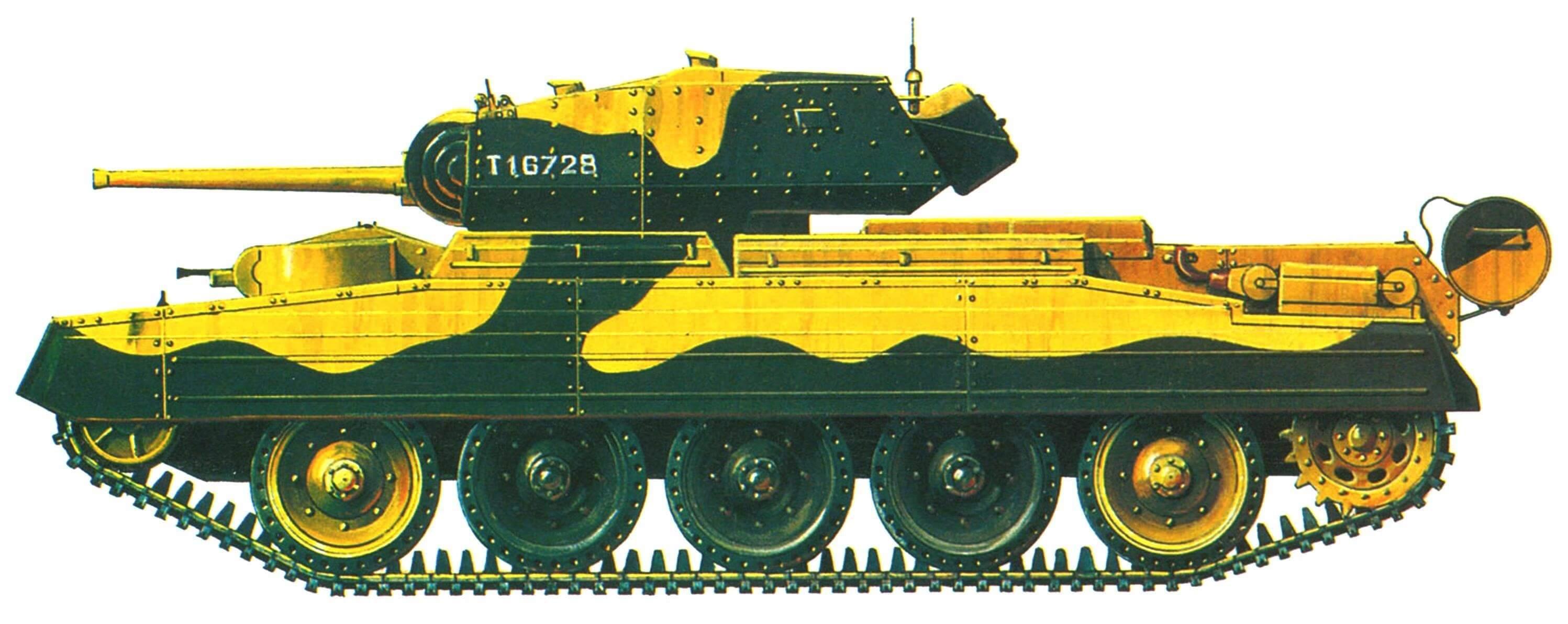 Crusader II. 9-й Королевский Уланский полк 1-й танковой дивизии, Северная Африка, декабрь 1941 года.