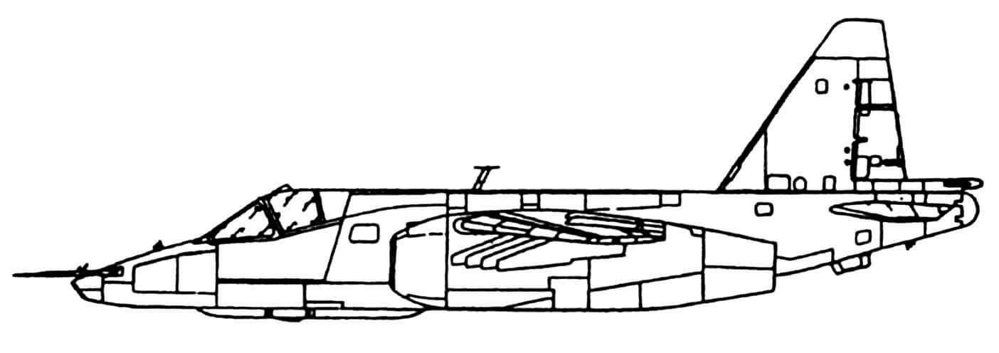 Су-25. Экспериментальная машина Т8-2.