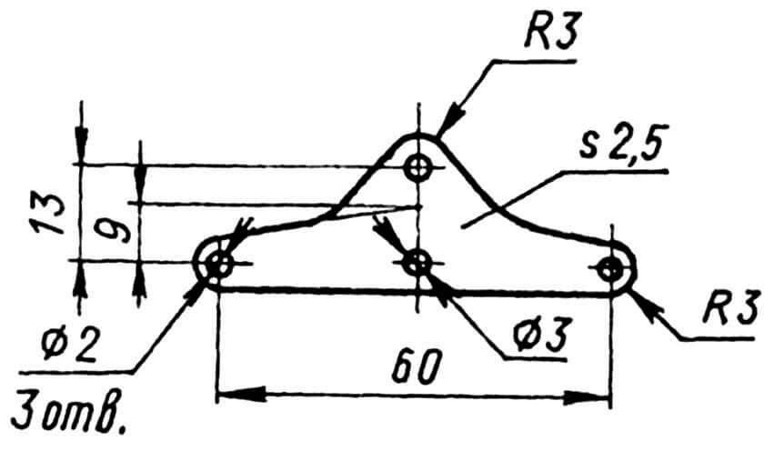Качалка управления рулем высоты (дюралюминий).