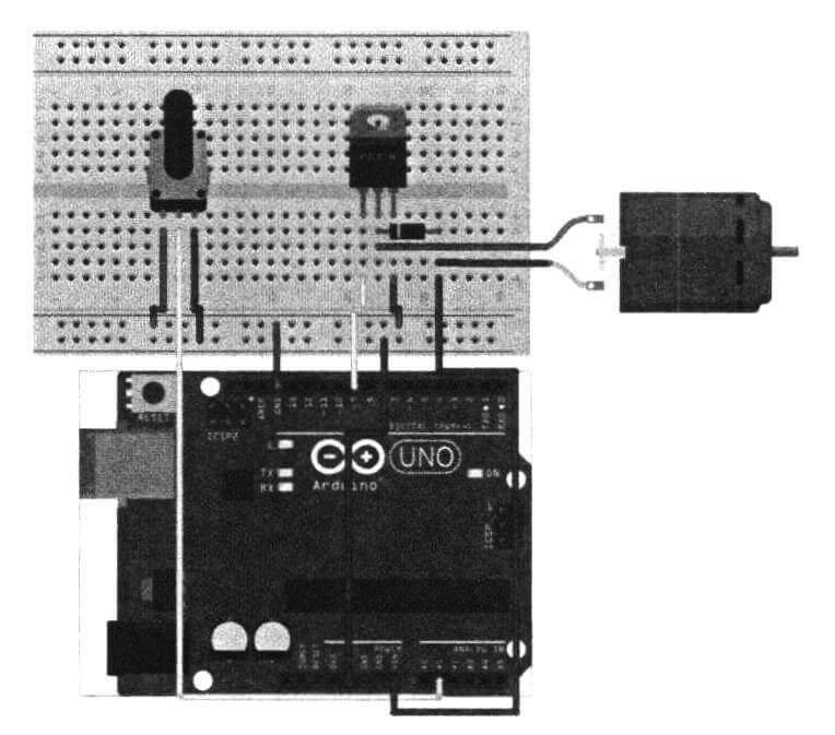 Схема подключения электродвигателя с возможностью управления скоростью его вращения
