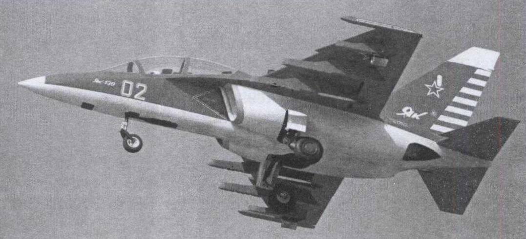 Модель Як-130 в полете (клуб RusJet)